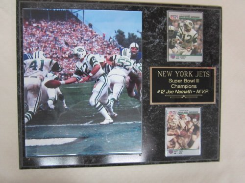 New York Jets Super Bowl III Champions 2 Card Collector Plaque #3 w/8x10 Photo ()