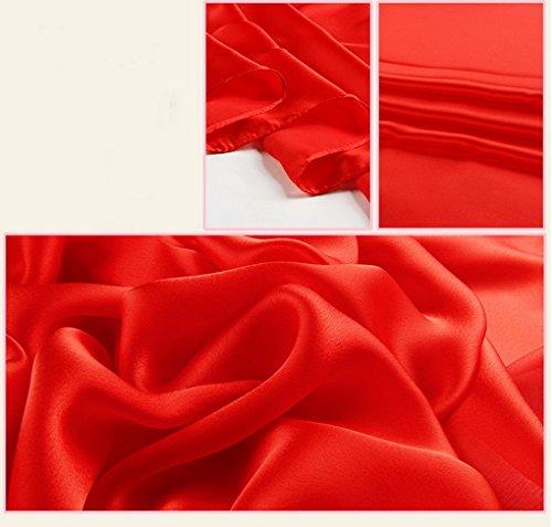 Wrap Soie Cou Pour Coton Long Elegant Acmede En Hiver Echarpe Foulard Rouge Doux Ete Chale Femme xaz8wWYAq