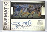 Football NFL 2016 Gala Cinematic Signatures #13 James Starks Auto /49 Packers