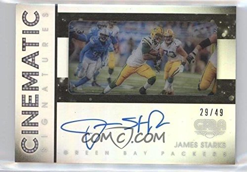 Football NFL 2016 Gala Cinematic Signatures #13 James Starks Auto /49 Packers by