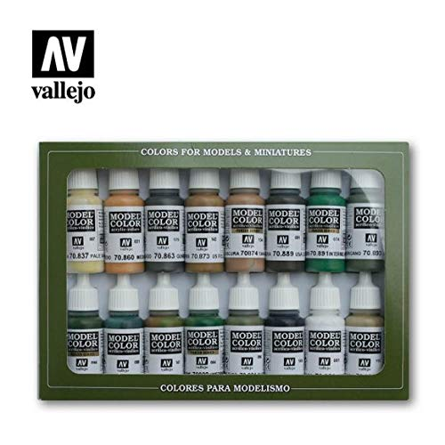 Vallejo WWII Allied Forces Paint Set #9, 17ml - $52.99