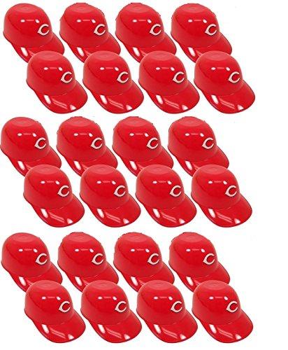 Cincinnati Reds Mini Batting Helmet (MLB Mini Batting Helmet Ice Cream Sundae/ Snack Bowls-24 Pack (Cincinnati)