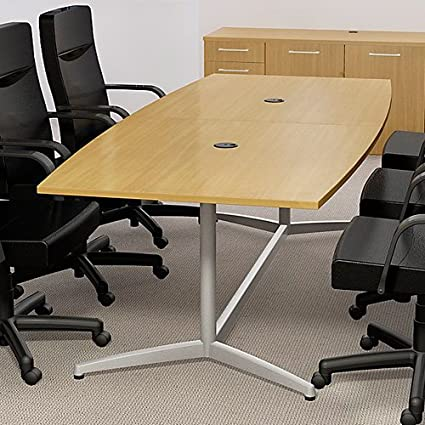 Amazon.com : 6ft - 10ft Boat Shaped Modern Conference Table ...