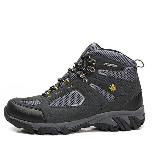 Bateau de Désert Hommes Chaussures de Randonnée Respirant pour (Gris foncé, 43)