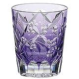 Kagami Crystal (KAGAMI CRYSTAL) Edo Kiriko Shochu rock glass < Hagi and pampas grass > traditional craftsman root Tatsuya 230cc T557-2650CMP