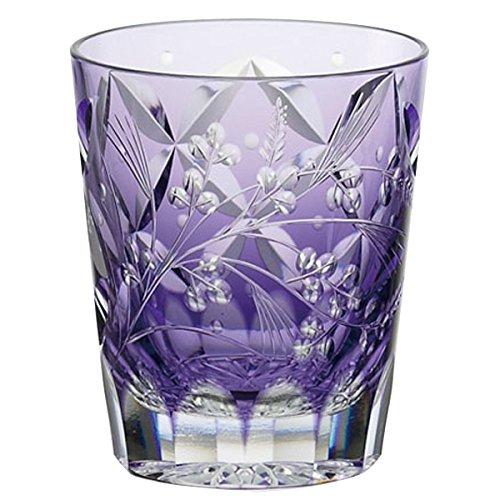 Kagami Crystal (KAGAMI CRYSTAL) Edo Kiriko Shochu rock glass < Hagi and pampas grass > traditional craftsman root Tatsuya 230cc T557-2650CMP by Kagami Crystal