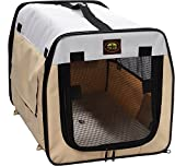 Pet Life Zippered Collapsible Wire Pet Crate, Khaki/Grey, Small Review