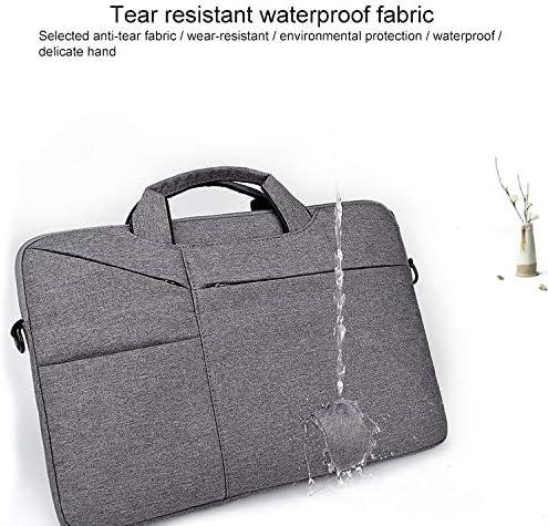 Laptop Handbag Color : Navy Blue with Suitcase Belt KANEED ST02S Waterproof Tear Resistance Hidden Portable Strap One-Shoulder Handbag for 13.3 inch Laptops Black