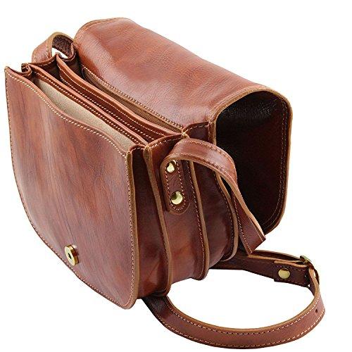 Tuscany Leather - Isabella - Bolso de señora en piel Negro - TL9031/2 Marrón oscuro
