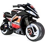 Injusa Injusa Repsol Wind Motorcycle Battery Powered Riding Toy, Black, Plastic, 6 Volt