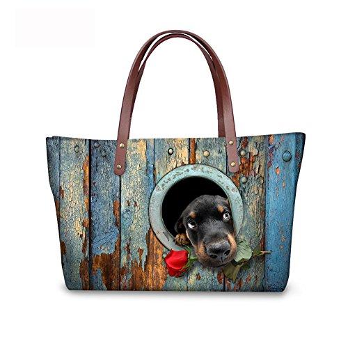 Handle FancyPrint Wallets Top Handbags Satchel Women Purse leather C8wc0174al Foldable Bags 1rFq10w