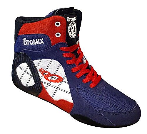 Otomix Ninja Warrior Stingray Bodybuilding Boxer Schuh Herren Rot Weiß und Blau
