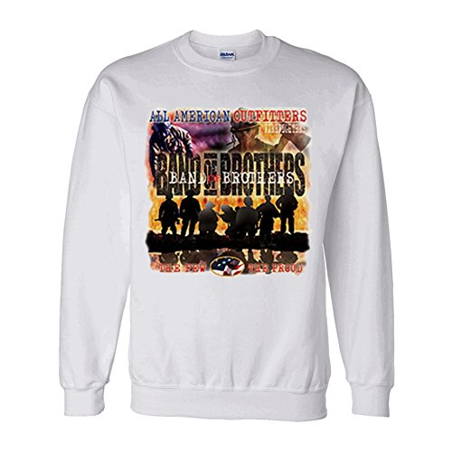 All American Outfitters Firefighters-Band Of Brothers Crewneck Sweatshirts 2X-Large White (All American Outfitters)