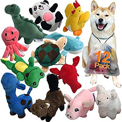 LEGEND-SANDY-Squeaky-Plush-Dog-Toy-Pack-for-Puppy-Small-Stuffed-Puppy-Chew-Toys-12-Dog-Toys-Bulk-with-Squeakers-Cute-Soft-Pet-Toy-for-Small-Medium-Size-Dogs