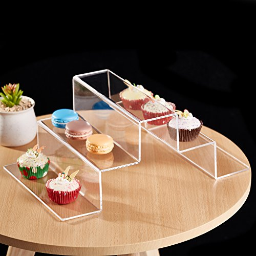 5-Tier Modern Stair-Step Design Clear Acrylic Dessert Cupcake Riser Display Stand