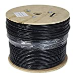 VIVO Black 1,000ft Bulk Cat6, Full Copper Ethernet Cable, 23 AWG, Cat-6 Wire, Waterproof, Outdoor, Direct Burial CABLE… 6 Cable Type - Cat6 bulk ethernet cable, 1000ft roll, connector free. Suitable for Fast, Gigabit, and 10-Gigabit Ethernet Material - Solid Pure Copper 23 AWG, Waterproof shielding (Not UV rated) Solid UTP - (4-pair unshielded twisted pair) cables for economic use. Conforms to TIA/EIA
