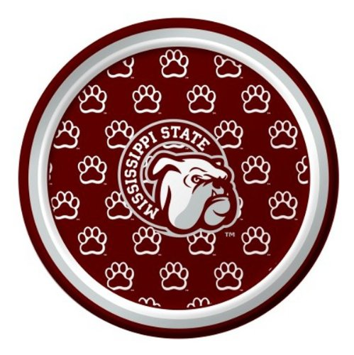 (Pack of 96 NCAA Mississippi State Bulldogs Round Tailgate Party Paper Plates 7