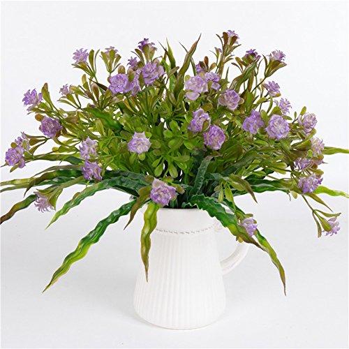 AkoMatial Artificiale Fiori finti, 1 Bouquet Artificiale Rose Falso Pianta Fiore Home Office Decorazione Festa Nuziale - ()