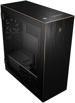 MSI MPG SEKIRA 500G Mid-Tower Caja de PC Gaming (Negro, 2 x 200 mm + 1 x 120 mm Ventiladores Incluidos, USB 3.2 Gen2 Type-C, 4 mm Panel Cristal Templado, EATX, ATX,