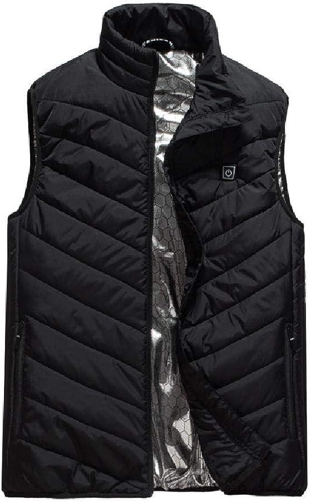 Chaleco cálido para Hombre en algodón cálido con Hombros Descubiertos USB en otoño e Invierno