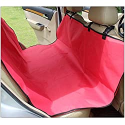 1 piece / Back Seat Carrier Protector Cover Pet Dog car seat Mat Blanket Cover Hammock Cushion Safety Waterproof (Red)