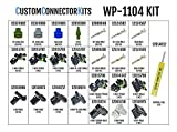 Delphi WeatherPack Connector Kit WP-1104 With T-18: Sealed Weatherproof Automotive Electrical Connectors 20-12 Gauge 1104 Piece Kit With Crimp Tool