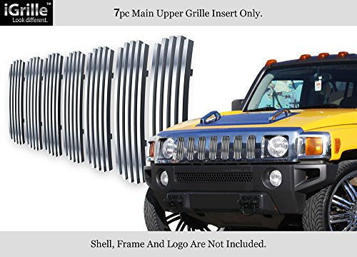 APS Compatible with 2006-2010 Hummer H3 Main Upper Stainless Steel Billet Grille N19-C85466C ()