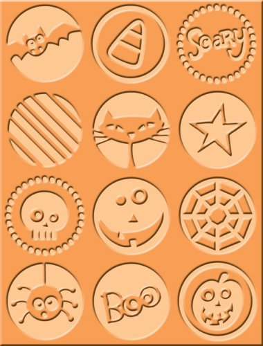 Cuttlebug A2 Holiday Embossing Folder, Boo to You by Cuttlebug
