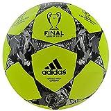 adidas Performance Finale Berlin Capitano Soccer Ball, Solar Yellow/Black/Silver, Size 5