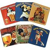 Beer Vintage Advertising Set of 6 Coasters