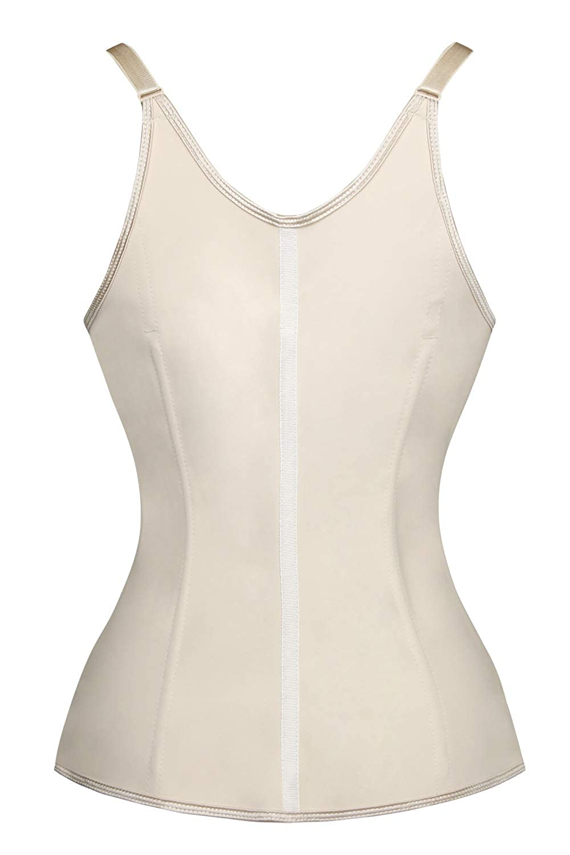 547b21ede2 Charmian Women s Latex Underbust Waist Training Steel Boned Shapewear Corset  at Amazon Women s Clothing store