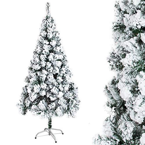 Árbol de Navidad Blanco Artificial Nevado de Picea Decoración Navideña