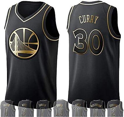 WOLFIRE WF Camiseta de Baloncesto para Hombre, NBA, Golden Edition ...