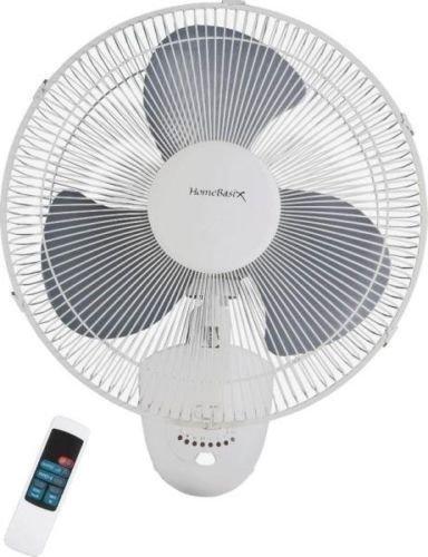 "New Homebasix Fw40-s1 3 Speed 16"" Oscillating Wall Mount Fan"