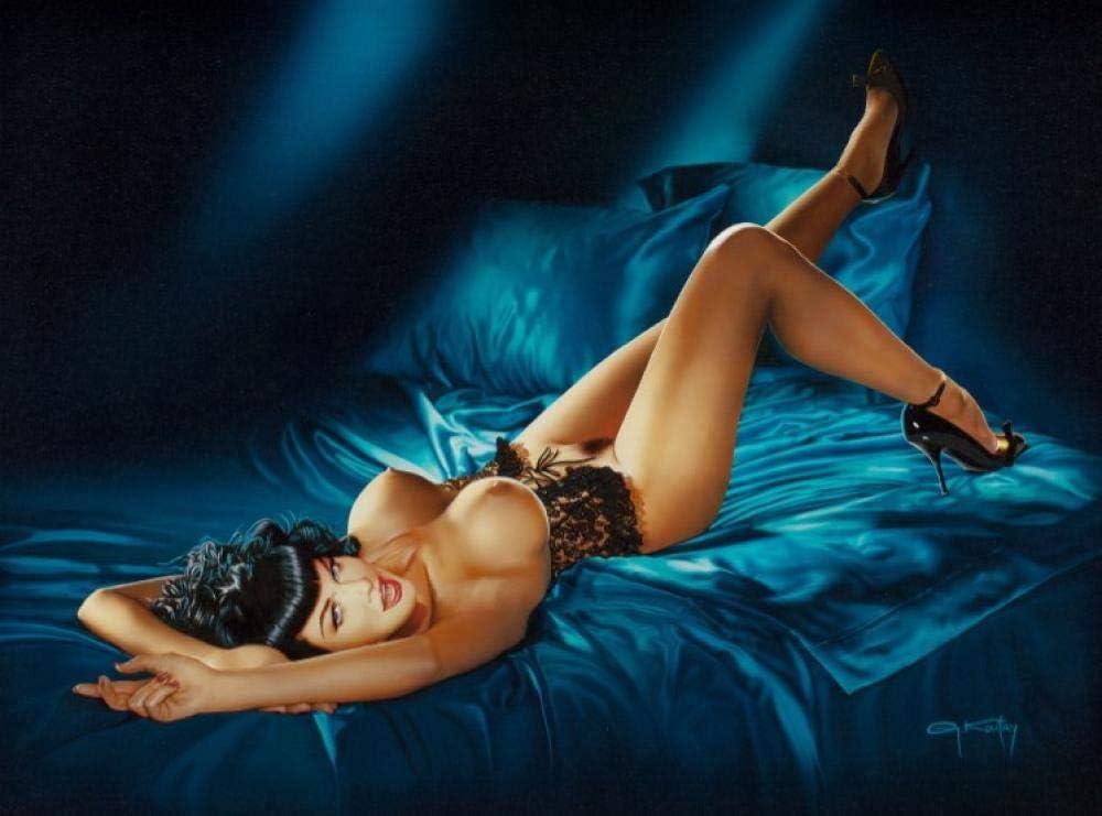 Clásica Sexy Mujer Desnuda Arte Pintura al óleo sobre Lienzo Carteles e Impresiones Moderna Pared Arte Retrato Imagen para Sala de Estar decoración del hogar50x70cm sin Marco