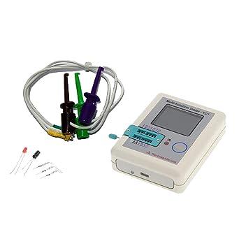 D DOLITY LCR-TC1 TFT Transistor Tester Capacitance Meter LCR ESR NPN PNP Capacitor Inductance Checker Detector USB Charging: Amazon.com: Industrial & ...