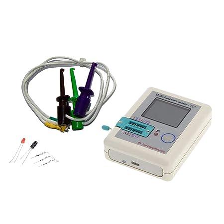 Sharplace 1 Pieza LCR-TC1 Transistor Tester TFT Diodo Tester Detector Capacitancia Meter NPN PNP MOSFET: Amazon.es: Bricolaje y herramientas