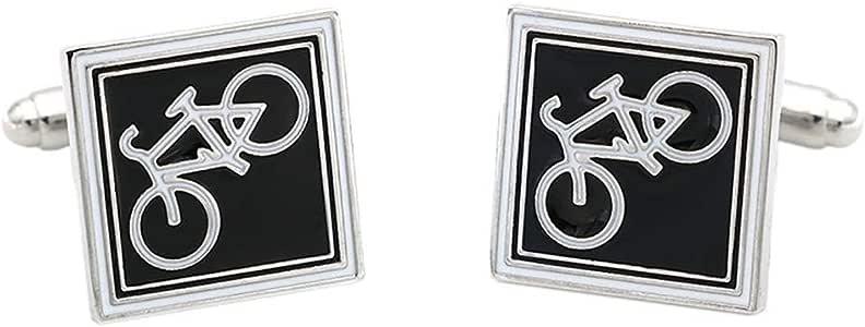 Doitsa. 2pcs Gemelos Camisa de Negocios Hombre Boda Originales Gemelos Divertidas Forma de Cuadrados de Bicicleta: Amazon.es: Joyería