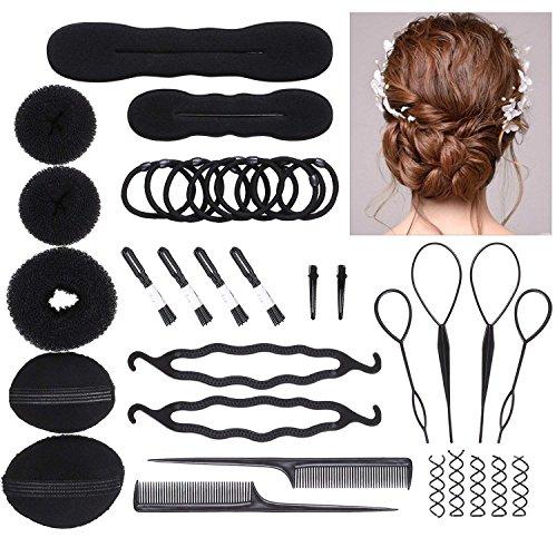 DELOVE- Hair Styling Accessories DIY Tools Set Hair Twist Styling Clip Stick Bun Maker Braid Tool