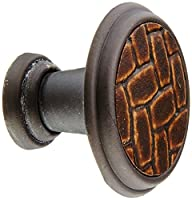 Laurey 12091 Cabinet Hardware 1-1/8-Inch Round Knob, Oil Rubbed Bronze and Brown