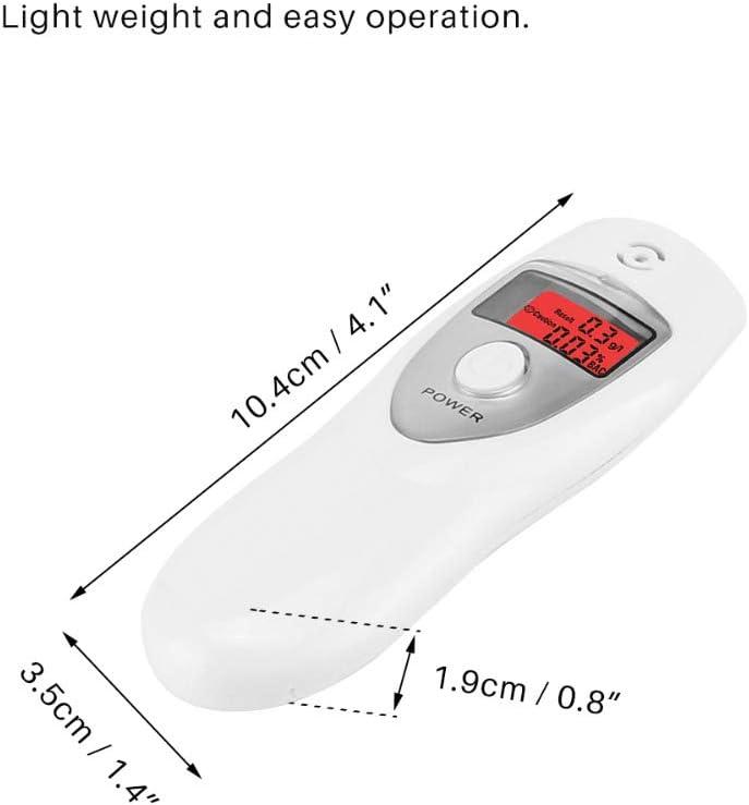 DT Alcootest Ethylotest electronique Professionnel Electronique /à Capteur Semi-Conducteur avec Semi-Conducteur Electrochimique Affichage LCD Num/érique et Son dalarme