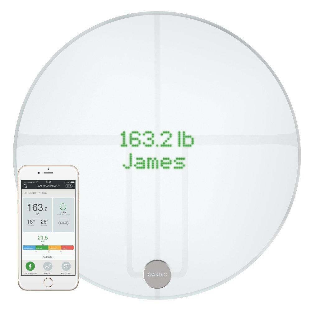 QardioBase 2 Wireless Smart Scale and Body Analyzer - Arctic White by Qardio (Image #1)