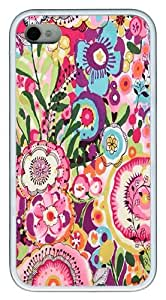 IMARTCASE iPhone 4S Case, Floral Pattern Case for Apple iPhone 4S/5 TPU - White