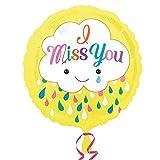 Amscan 3368801 Miss You Cloud Foil Balloon