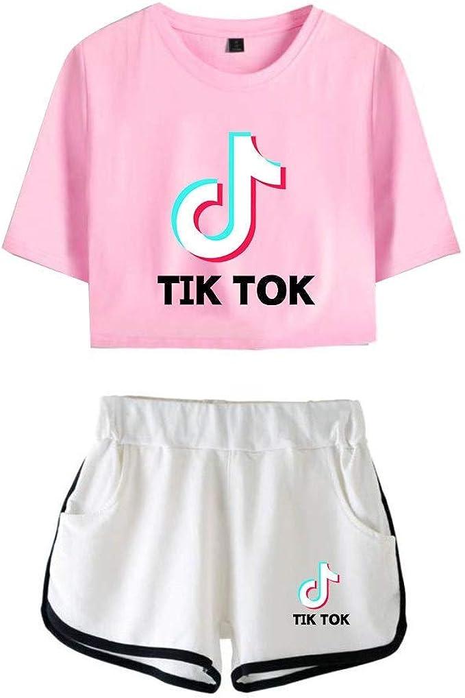 TINGTING Camiseta y Pantalones Cortos TIK Tok-Camiseta y Pantalones Cortos TikTok for Adultos y niños, Camiseta y Pantalones Cortos Music TikTok (Color : #22, Size : XS): Amazon.es: Ropa y accesorios