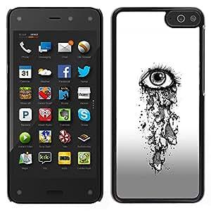For Amazon Fire Phone , S-type® Eye Girl Depression Sad Heartbreak - Arte & diseño plástico duro Fundas Cover Cubre Hard Case Cover