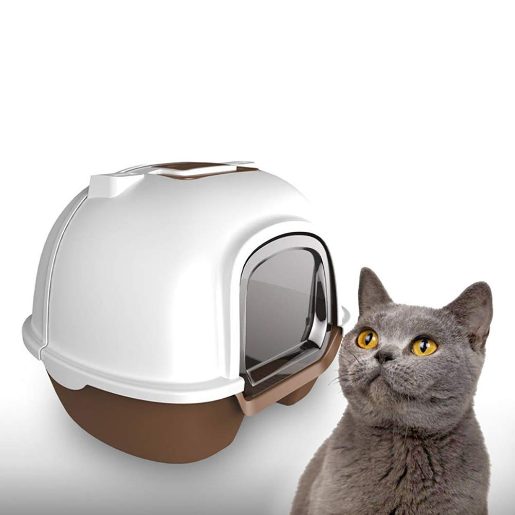 DAN Hooded Cat Litter Pan,Litter Box with Lid Jumbo Hooded Kitty Litter Pan,Extra Large by