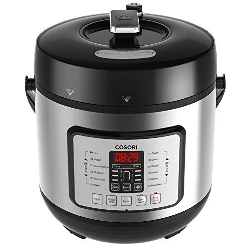 COSORI 6 Qt 7-in-1 Multi-Functional Programmable Pressure Cooker, Slow Cooker, Rice Cooker, Yogurt Maker, Sauté, Steamer & Warmer, Include Glass Lid, Sealing Ring and Recipe Book, 1000W by COSORI (Image #7)