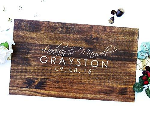 custom wedding guest book - 2