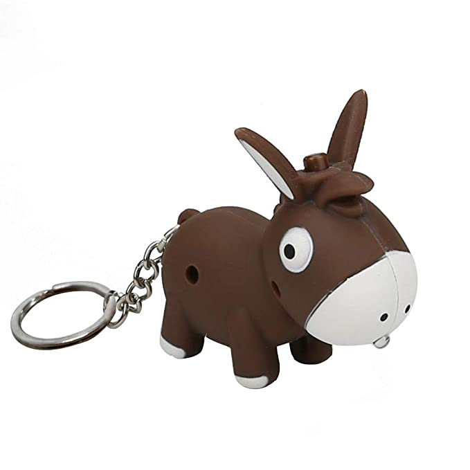 Amazon.com: Llavero con diseño de Donkey con luz LED y ...